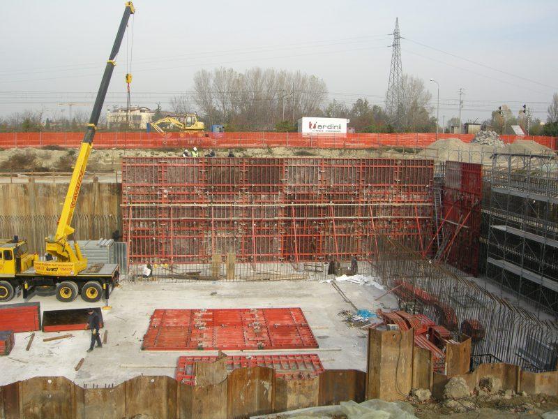 muri di sostegno magazzino verticale interrato